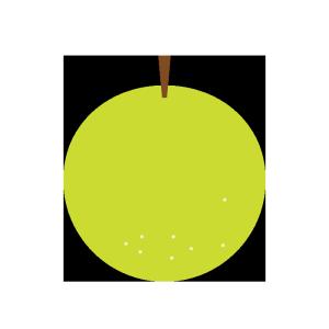 梨のシンプルイラスト