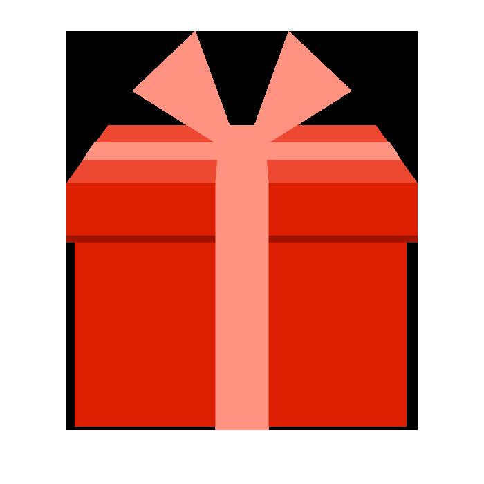 プレゼント赤のシンプルイラスト 無料 イラストk