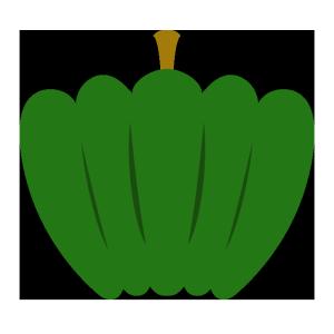 かぼちゃ(緑)のシンプルイラスト