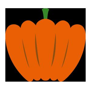 かぼちゃ(オレンジ)のシンプルイラスト