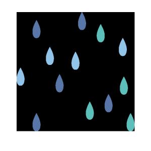 雨のシンプルイラスト