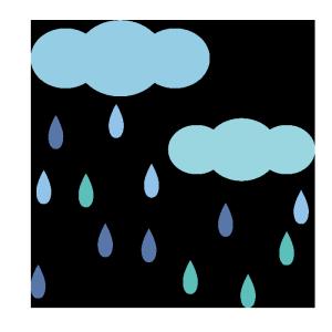 雨雲のシンプルイラスト