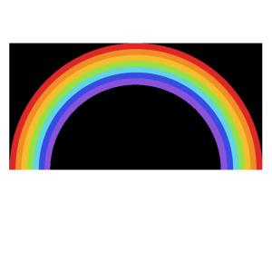 虹のシンプルイラスト