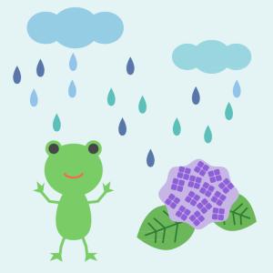 梅雨のシンプルイラスト