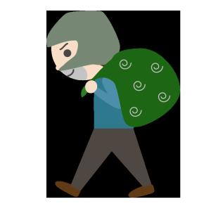 泥棒のシンプルイラスト