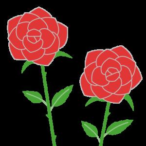 バラのシンプルイラスト02