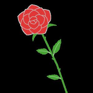 バラのシンプルイラスト03