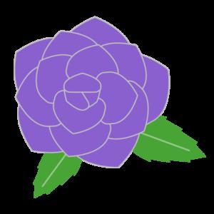 バラ(紫)のシンプルイラスト