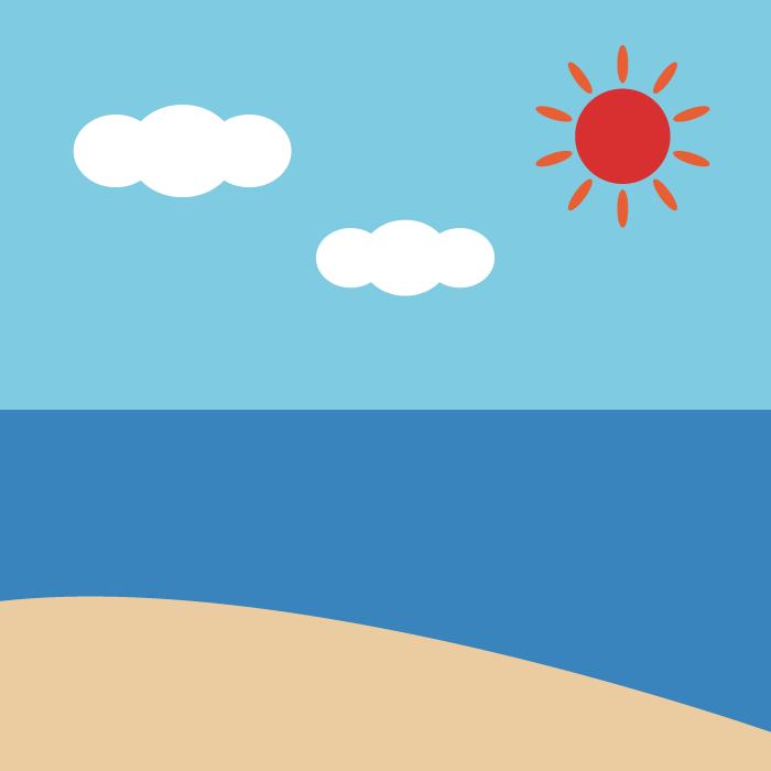 海のシンプルイラスト 無料 イラストk