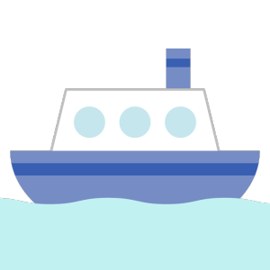 船のシンプルイラスト
