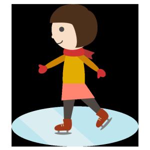 スケートのシンプルイラスト