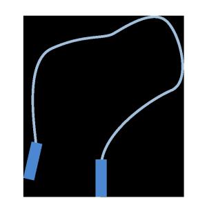 縄跳び(青)のシンプルイラスト