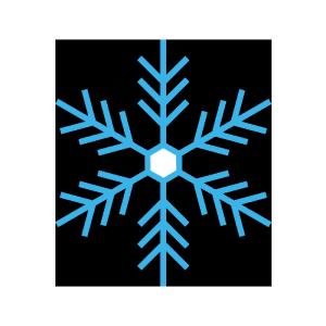雪の結晶のシンプルイラスト