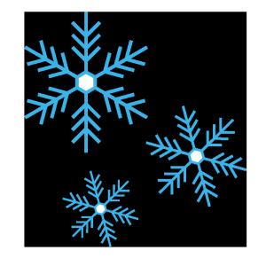 雪の結晶のシンプルイラスト02