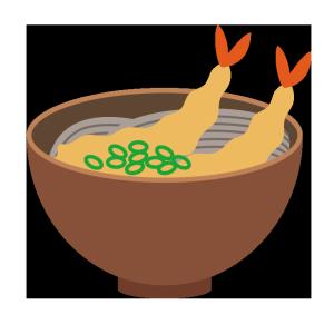 蕎麦のシンプルイラスト