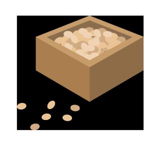 節分の豆のシンプルイラスト