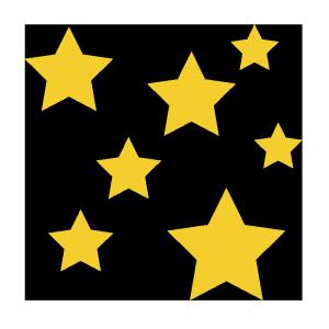 星のシンプルイラスト