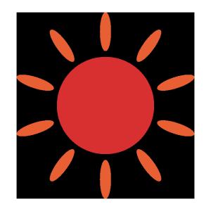 太陽のシンプルイラスト