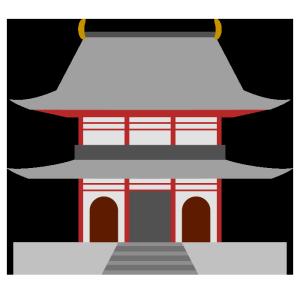 寺のシンプルイラスト