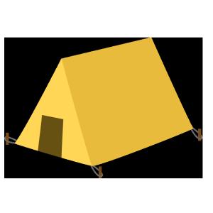 テントのシンプルイラスト