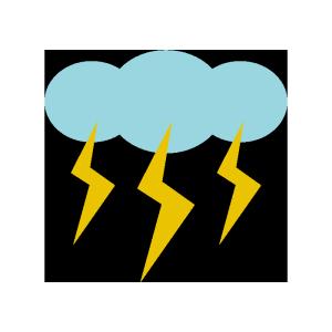 雷雲のシンプルイラスト