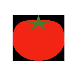 トマトのシンプルイラスト