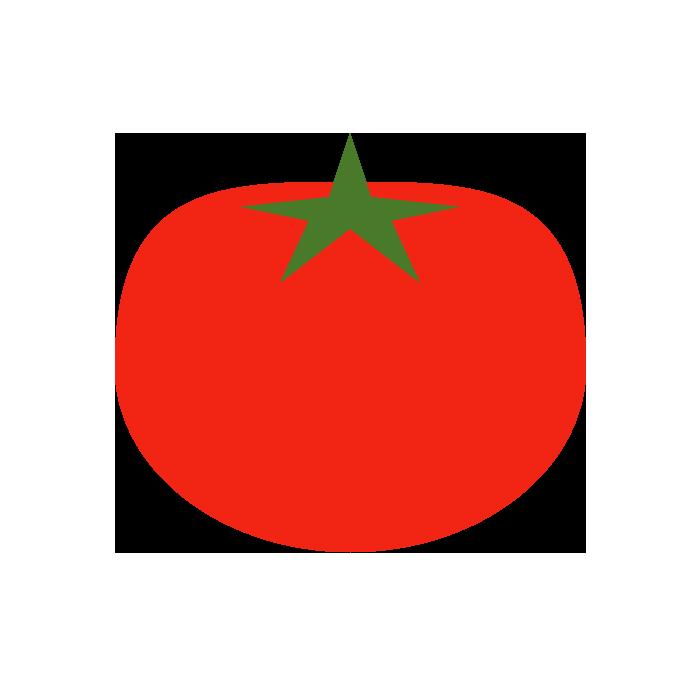 トマトのシンプルイラスト 無料 イラストk