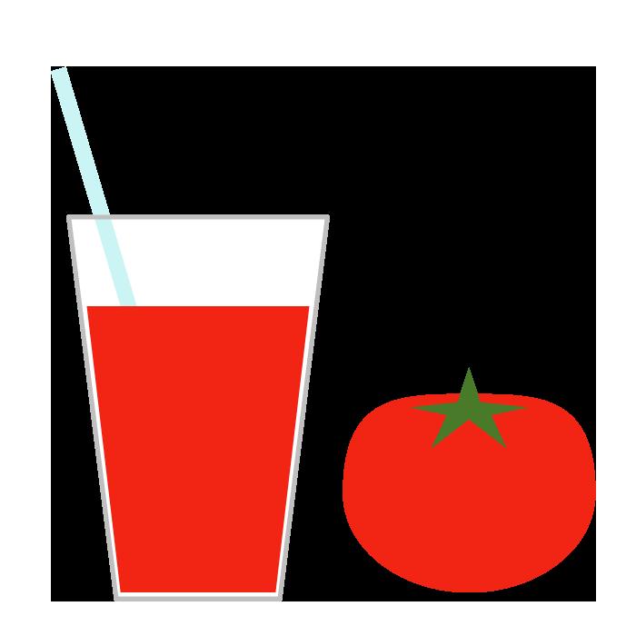 トマトジュースのシンプルイラスト 無料 イラストk