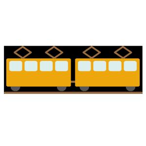 電車のシンプルイラスト
