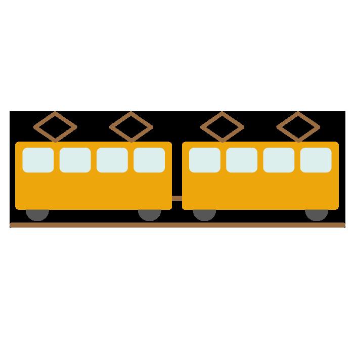 電車のシンプルイラスト <無料>