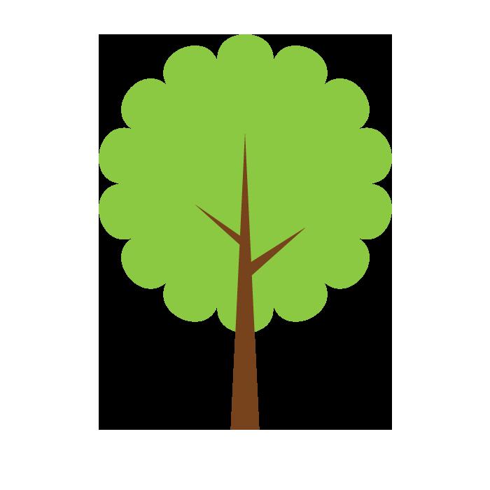木のシンプルイラスト02 無料 イラストk