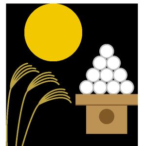 お月見のシンプルイラスト