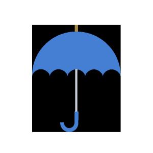 傘(青)のシンプルイラスト