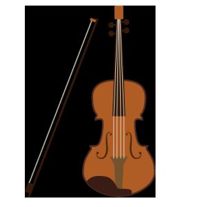 ヴァイオリンのシンプルイラスト
