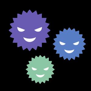 ウイルスのシンプルイラスト