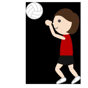 バレーボール(女子)のシンプルイラスト