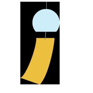 風鈴のシンプルイラスト