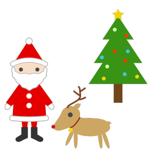 クリスマスのシンプルイラスト