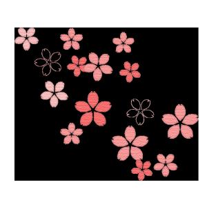 桜の花の質感イラスト